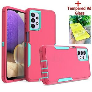 360 Case Full Hybrid Shockproof Phone Cover & Glass For Samsung A12 A22 A32 A52