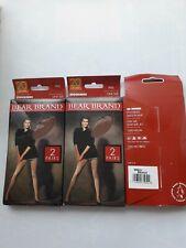 6 Pairs Joblot Bear Brand 20 denier Bronze smooth knit nylon stockings. One size