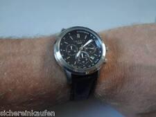 sportlicher ESPRIT Chronograph HAU/Herrenuhr silber-schwarz #107031 CHRONO neu