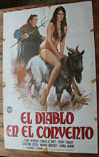 Cartel de Cine EL DIABLO EN EL CONVENTO Vintage Comedy Erotic Movie Film Poster