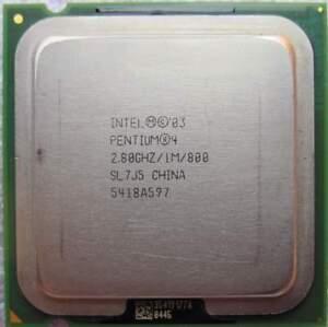 Intel Pentium 4 520 Processor 1M Cache 2.8 GHz 800 Mhz FSB CPU Socket 775 SL7J5