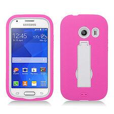 Straight Talk Samsung Galaxy ACE IMPACT Hard Rubber Case Phone Cover Kickstand