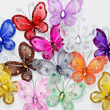 10pcs artificial Stocking Butterfly Wedding Christmas Decorations Birthday Party
