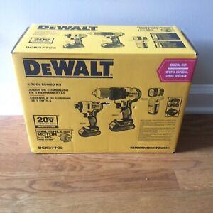 DeWALT DCK377C2 20V MAX Brushless 3-Tool Combo Kit Contractor Bag New!