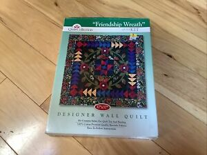 """NEW Wall Patchwork Quilt Kit The Quilt Collection """"Friendship Wreath"""""""