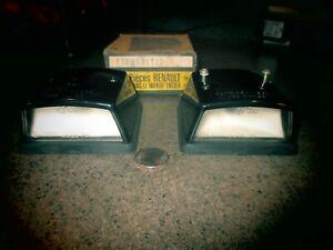 1 Pr.Rare NOS SEIMA#863,Renault#7700521112 Rear Plate Lamps 4CV,5CV,R4,R5,R6,R8?
