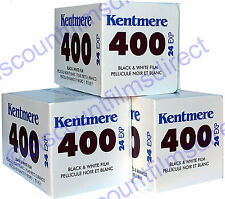 3 x Kentmere (BY ILFORD) 400 35mm 24exp CHEAP B&W CAMERA FILM by 1st CLASS POST