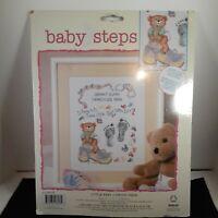 Janlynn Counted Cross stitch Kit Baby Steps,  Little Feet
