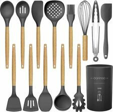 14 Pcs Silicone Cooking Utensils Kitchen Utensil Set - 446°F Heat Resistant