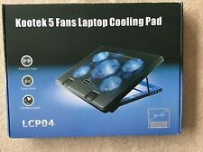 "Kootek Laptop Cooling Pad 12""-17"" Cooling Pad 5 Quiet Fans Blue LED"