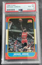 MICHAEL JORDAN 1986 Fleer #57 Rookie Card RC PSA 8