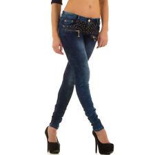 Indigo -/darkwashed Damen-Jeans mit mittlerer Bundhöhe Hosengröße 36