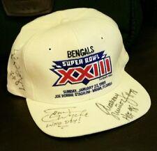 Cincinnati Bengals Super Bowl XXIII 1989 Signed Snapback Cap Hat football/rare