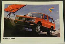 S-10 S 10 4X4 BLAZER SHOWROOM PROMO 1984 CHEVY DEALER DEALERSHIP POSTCARD