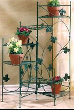 IVY-DESIGN GRADUATING HEIGHT 6 PLANT METAL STAIRCASE PLANT STAND ** NIB