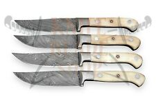 Damascus Steel  Blades ,STEAK Knife set <>>>>04 piece