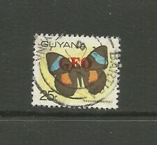 Guyana 1983 Butterfly Overprint, used.  Guyana Airways Anniv.  SG1141