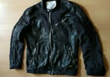"""Rare, £600 Limited Edition DIESEL Black Leather & Fabric Jacket XXL 46"""""""