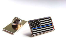 Thin Blue Line Cops Lapel/Tie Tack Hat Pin TBL Police Collectors Pin TBL