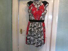 Size 10 BNWT Red/black/white print dress by WAREHOUSE