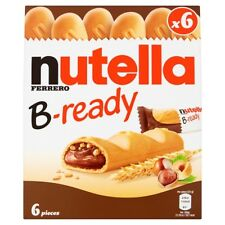 Nutella B-Ready 6 X 22G Crispy Specialty Filled with Hazelnut Spread with Cocoa