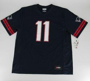 NFL New England Patriots Men's Edelman Julian Short Sleeve Navy Jersey Size XL