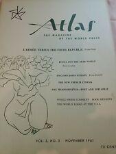 ATLAS The Magazine Of The World Press~Vol.2 No.5 November 1961 Russia Arab