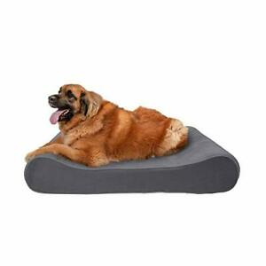 Furhaven Pet Dog Bed - Orthopedic Micro Velvet Ergonomic Luxe Lounger Cradle ...