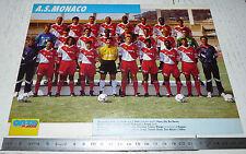 CLIPPING POSTER FOOTBALL 1992-1993 AS MONACO ASM ROCHER LOUIS II PRINCIPAUTE
