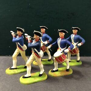 Elastolin: Prussian Fifes & Drums, 1750. 70mm Plastic Figures