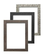 Textured Flat Frame Photo Picture Poster Frame Black Walnut Silver A4 A3