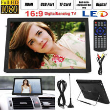 "14"" TFT-LED Digital Television ATSC Portable TV 1080P HD HDMI Video Player Car"