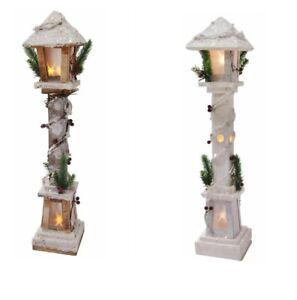 Charming Christmas Cottage Light Up Woodland Lamp Post Xmas LED Pre Lit. 60CM