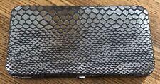 ALDO Silver Metallic Snake Print Snap Clutch/Wallet   Free Shipping!