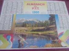 CALENDRIER almanach des PTT  1968