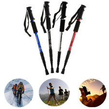 Trekking Walking Hiking Sticks Poles Anti-shock Alpenstock Adjustable 4-section