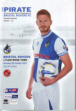 BRISTOL ROVERS V FLEETWOOD TOWN 5 OCT 2013 EXC CONDITION QUALITY 68 PAGE PROG.