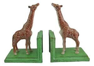 Giraffe Bookends - Cast Iron Aged Appearance