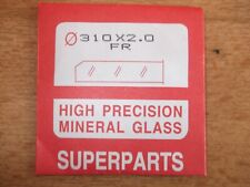 HIGH PRECISION FLAT MINERAL WATCH GLASS CRYSTAL 31mm X 2mm NEW