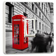 Stylish B & W London Big Ben Red Phone Box light switch sticker (26507771)