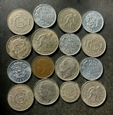 Old LUXEMBOURG Coin Lot - 1901-Present - 16 Low Mintage Coins - Lot #O16
