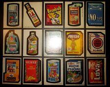 Wacky Packages SET original 3rd series 3 1973 complete SET 30 stickers Ex/Ex+