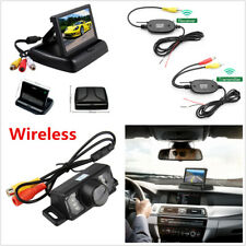Wireless Car Rear View Backup Reverse Parking Camera +HD LCD Display Monitor Kit