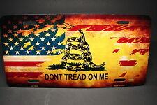 DONT TREAD ON ME AMERICAN FLAG METAL ALUMINUM CAR LICENSE PLATE The Gadsden Flag