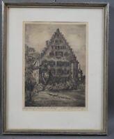 Walter Romberg (1898 - 1973) Alfdorf - Unteres Schloss - handsignierte Radierung