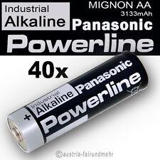 40x MIGNON AA LR6 MN1500 Batterie PANASONIC POWERLINE INDUSTRIAL