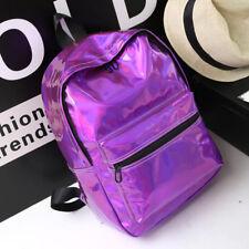 Women Girls Holographic Celebrity Backpack College School Shoulder Bag Rucksack