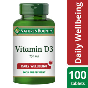 Nature's Bounty Vitamin D3 25µg (1000 IU) - 100 Tablets