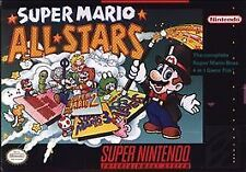 Super Mario brothers All-Stars Super Nintendo SNES video game cartridge 1 2 3