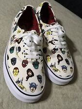 "VANS x Marvel Authentic ""Avenger/Marvel Heads; Cream"" Size 9.5 VN0A38EMRNU"